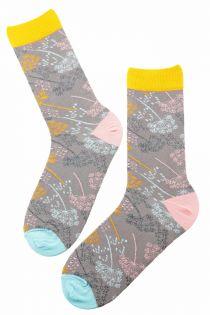 WIND grey cotton socks   BestSockDrawer.com