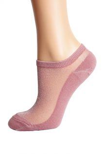 LUCINA old rose glittery socks for women | BestSockDrawer.com