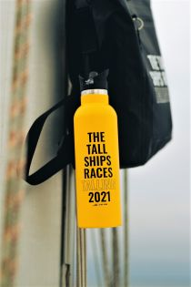 THE TALL SHIPS RACES 2021 yellow water bottle | BestSockDrawer.com