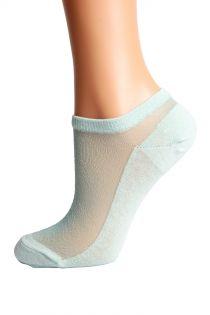LUCINA mint green glittery socks for women | BestSockDrawer.com