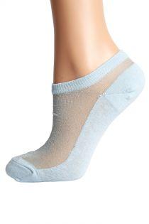 LUCINA light blue glittery socks for women | BestSockDrawer.com
