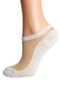 LUCINA beige glittery socks for women | BestSockDrawer.com