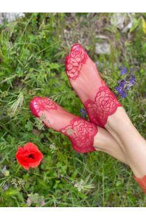 TERESA red lace socks for women   BestSockDrawer.com