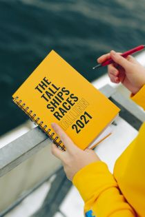 THE TALL SHIPS RACES 2021 yellow notebook | BestSockDrawer.com