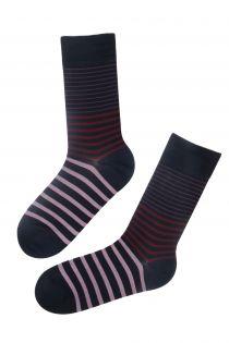 WILLIAM striped Dress Socks for men | BestSockDrawer.com