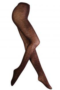 LEENA brown wool tights | BestSockDrawer.com