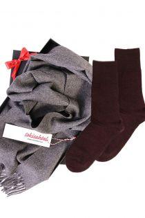 Alpaca wool scarf and DOORA socks gift box for women | BestSockDrawer.com