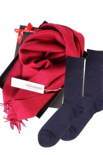 Alpaca wool scarf and VEIKO socks gift box for men | BestSockDrawer.com