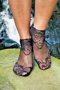 TERESA black lace socks for women | BestSockDrawer.com