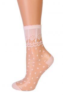 GRETA light pink sheer socks   BestSockDrawer.com