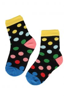 DOTS PARTY cotton socks with colourful dots for kids | BestSockDrawer.com