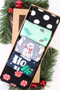 SANTA CLAUS Christmas gift box with 5 pairs of socks   BestSockDrawer.com