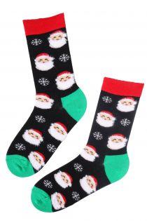 FREDERIK Santa Claus patterned Christmas socks | BestSockDrawer.com