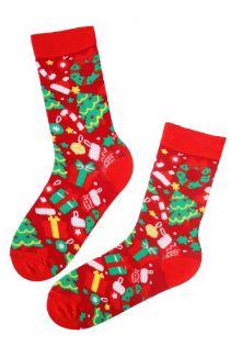 GIFT red cotton Christmas socks | BestSockDrawer.com