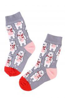 CHRISTMAS BEAR kids cotton socks with bears | BestSockDrawer.com