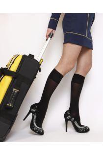 VARIS 70DEN black compression knee-highs   BestSockDrawer.com