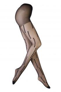 LOORA black sheer tights for women | BestSockDrawer.com