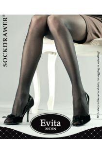 EVITA 3D black tights | BestSockDrawer.com