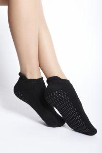 FINN womens black anti-slip socks | BestSockDrawer.com