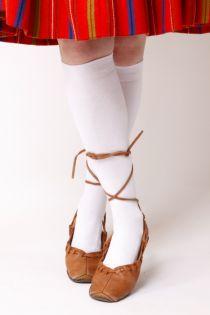 KRISS white cotton knee highs | BestSockDrawer.com