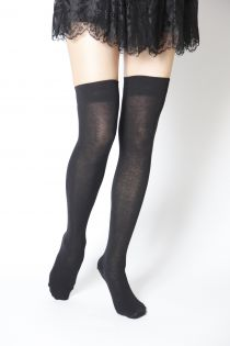JESSI black over the knee highs | BestSockDrawer.com