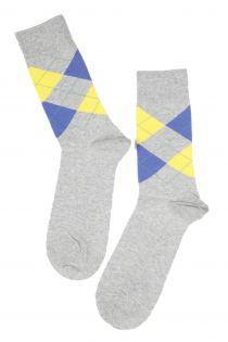 BENJAMIN men's cotton socks, grey colour | BestSockDrawer.com