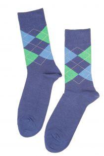 BENJAMIN men's cotton socks, blue colour | BestSockDrawer.com
