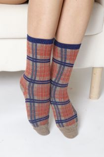 CAMEO orange socks with glitter | BestSockDrawer.com
