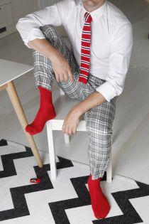Men's red viscose socks and red knitted tie | BestSockDrawer.com