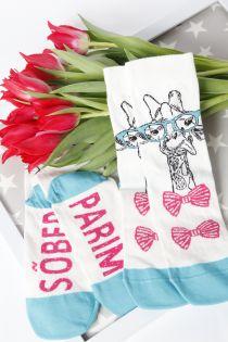 GIRAFFE women's socks | BestSockDrawer.com
