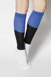 EESTI women's cotton knee-highs in the colours of the Estonian flag | BestSockDrawer.com