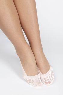 ISTANBUL light pink footies for women | BestSockDrawer.com