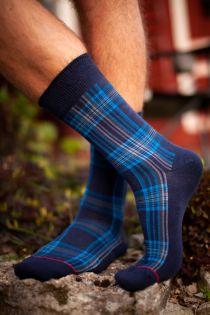 CARL men's socks with blue stripes | BestSockDrawer.com