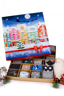 Advent Calendar WARM FEET, WARM HEART! 24 pairs of angora, merino and alpaca wool socks Pre-order, shipped out on Oct 27th, 2021 | BestSockDrawer.com