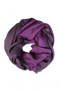 Alpaca wool and silk double-sided dark purple shawl | BestSockDrawer.com