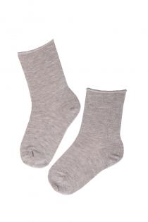 ANNI beige angora wool comfort-socks for kids | BestSockDrawer.com
