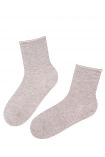 ANNI beige angora wool comfort socks | BestSockDrawer.com