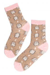 BEAR BABY angora wool socks | BestSockDrawer.com