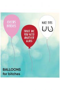 BITCHES balloons 3 pack | BestSockDrawer.com