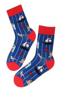 SEA themed cotton socks | BestSockDrawer.com
