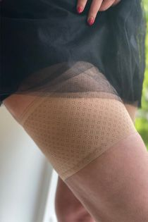 BREATH beige anti-chafing thigh bands | BestSockDrawer.com