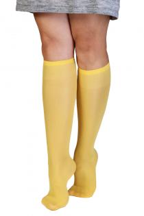 CADRI 40DEN yellow knee-highs for women | BestSockDrawer.com