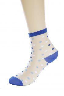 CARA sheer blue socks | BestSockDrawer.com
