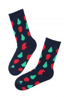CARIN dark blue cotton socks   BestSockDrawer.com