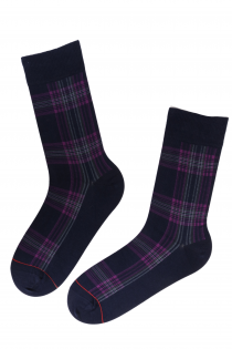 CARL men's Dress Socks with purple stripes | BestSockDrawer.com