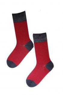 CECAR red Dress Socks for Men | BestSockDrawer.com