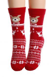 CHRISTMAS red cotton socks for children | BestSockDrawer.com