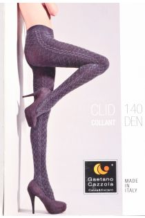 Gaetano Cazzola CLID 140DEN white tights for women | BestSockDrawer.com