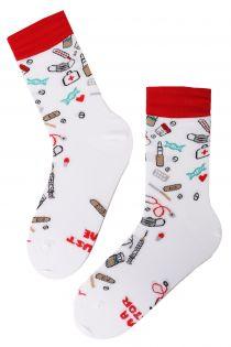 DOCTOR white cotton socks | BestSockDrawer.com