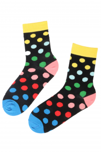 DOTS PARTY cotton socks with colourful dots | BestSockDrawer.com
